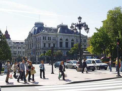 Calle céntrica de Oviedo