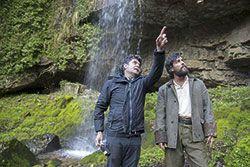 Samu Fuentes y Mario Casas en la Cascada del Pímpano