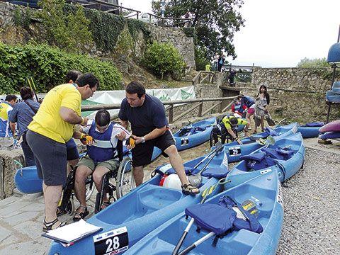 La asociación A Mariña-Cogami en el descenso del Sella