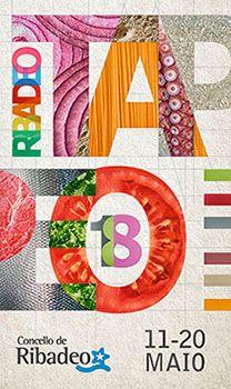 Cartel de concurso gastronómico Ribadeo de tapeo