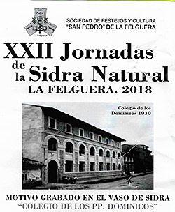 La Sociedad de festejos y cultura de San Pedro de La Felguera ha editado un vaso para la fiesta de la sidra