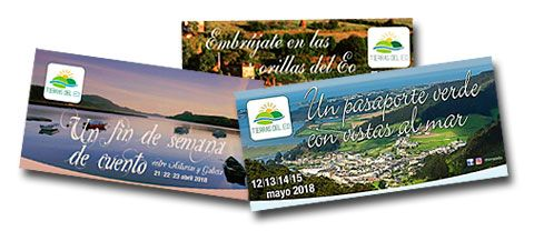 Imágenes de las campañas promocionales, de la iniciativa Tierras del Eo