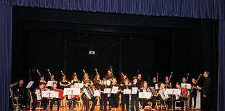 Concierto representado por componentes de la Escuela de Música de Vegadeo