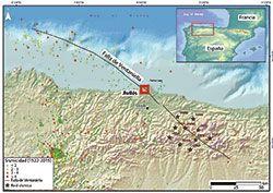 Mapa de la falla geocantábrica de Ventaniellas