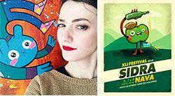 Lucía Astuy, diseñadora gráfica y autora del cartel del Festival de la Sidra 2018