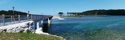 Estado de La Poza de Navia tras las obras de rehabilitación