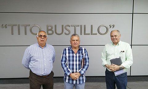 Francisco Elías Pando (Presidente), José Manuel Rodríguez (Vocal) e Ignacio Alonso (Dir. del Museo Arqueológico de Asturias)