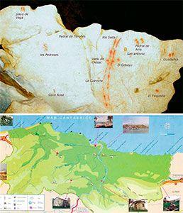 Mapa de la Cuevas en Tito Bustillo