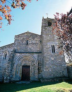 Fachada de la Basílica de San Martiño (Foz, Lugo)