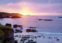 Atardecer en la playa de Porcía (El Franco)