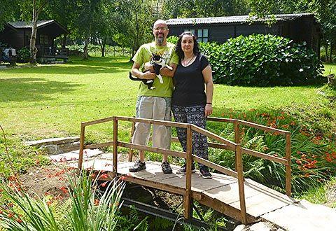Óscar Barbero y Yolanda Tella en el camping de Valdepares