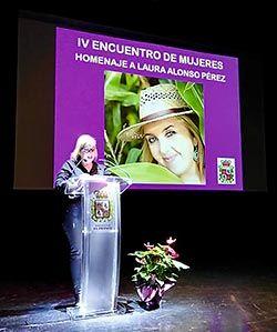 Homenaje a Laura Alonso el Día de la Mujer otorgado por el Consejo de la Mujer de El Franco