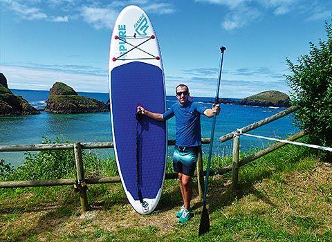 Yonander García en la playa de Porcía
