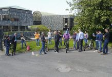Práctica con bicicletas eléctricas en el IAPRL