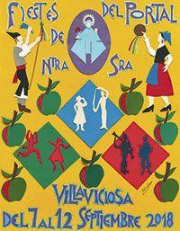 Cartel de las Fiestas del Portal de Villaviciosa