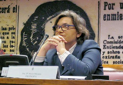 Alicia Miyares. Filósofa y Coordinadora de la Plataforma 'No Somos Vasijas'