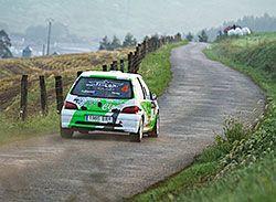 Peugeot 106, de Diego Acevedo y Denis López, durante la pasada edición del Rallysprint Castropol