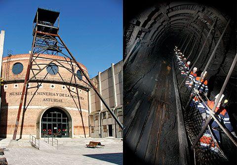 Museo de la Minería de Asturias e Interior del Pozo Sotón