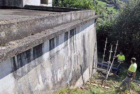 Depósito de agua en Riosa