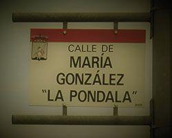 Cartel de la calle La Pondala en el Polígono Industrial de Somonte. Gijón