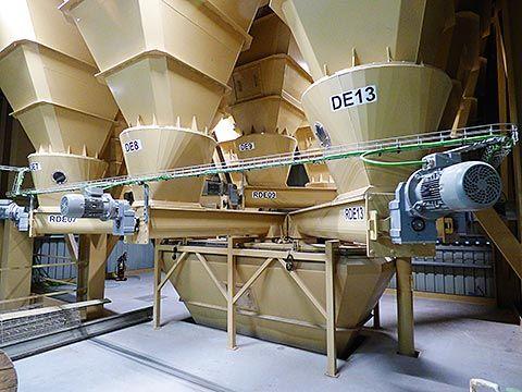 Dosificación de materias en la fábrica eco, en Campoastur