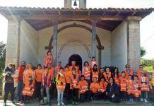 Grupo de Participación Infantil con voluntarios en la sestaferia