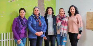 Componentes de la Asociación San Bartuelo, de izda. a dcha., María Jesús Álvarez, Emma Fernández, Raquel Rodríguez, Noelia Díaz y Sandra Aparicio