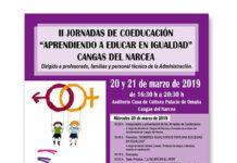 Carteles de actividades para el día internacional de la mujer en Cangas del Narcea
