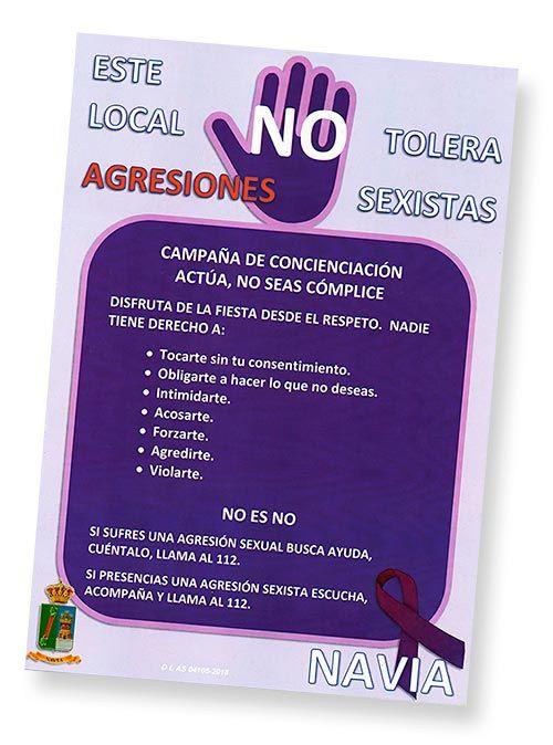 """Cartel """"No a las agresiones sexistas"""""""