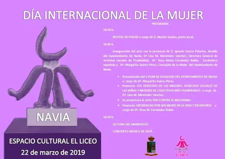 Programa de actos el día 22 de marzo con motivo del Día Internacional de la Mujer