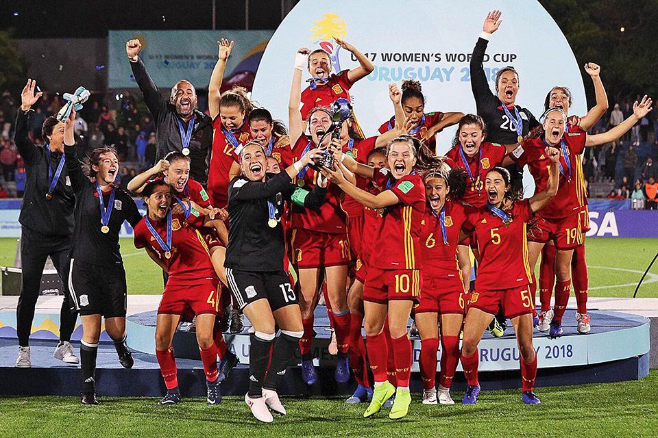 Celebración del Mundial de Fútbol Femenino Sub-17 en Uruguay