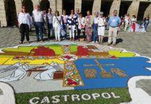 Asociación El Pampillo (Castropol)en Santiago de Compostela, en noviembre de 2017 / Foto: AC El Pampillo
