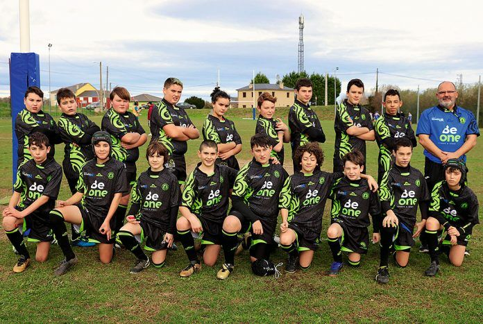 Equipo sub14 del Club BeOne Ribadeo Rugby