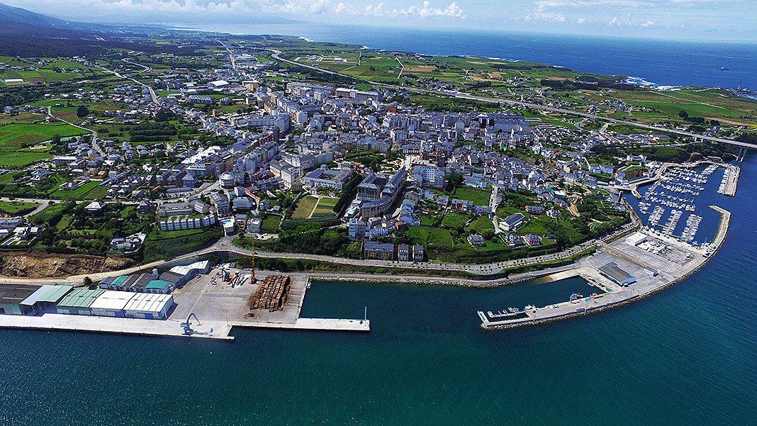 Vista aérea de la localidad de Ribadeo