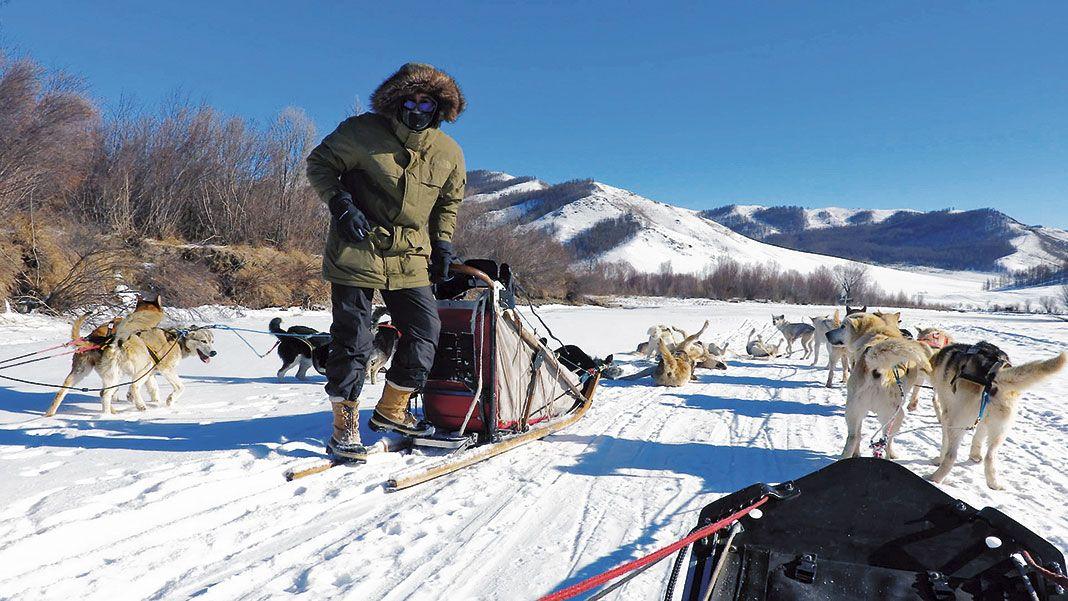 Algunas zonas de la estepa solo se pueden atravesar en trineo de perros