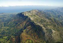 Vista de la Sierra del Sueve (Colunga)