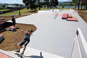 Imagen del recientemente inaugurado Skate park de Navia