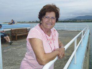 Carmen Moreda, presidenta de la Asociación Amas de Casa Virxe do Carmen de Foz