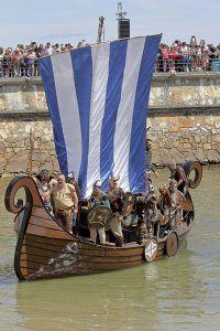 Representación de la Fiesta Normanda en Foz