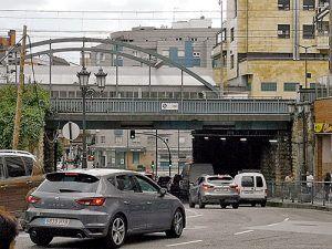 Puente Nicolás Soria, polígono industrial de Ferreros (Oviedo)
