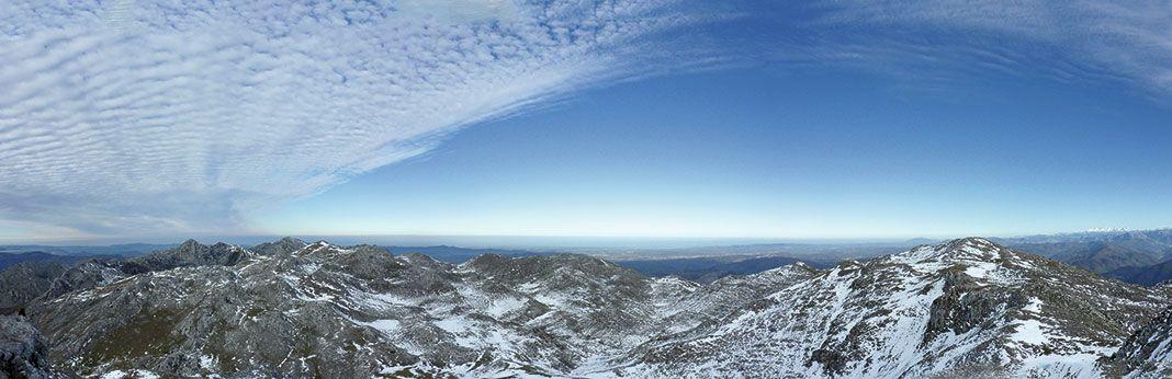Panorámica de la Sierra del Aramo