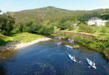 Canoas en el río Eo (San Tirso de Abres)