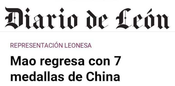 Mao regresa con 7 medallas de China