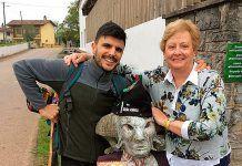 Mari Paz Campa y su 'Faunino' acompañados de Rodrigo Cuevas en Casquita, Villaviciosa