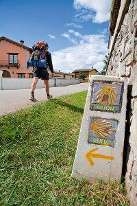 Peregrino a su paso por Casquita, Villaviciosa