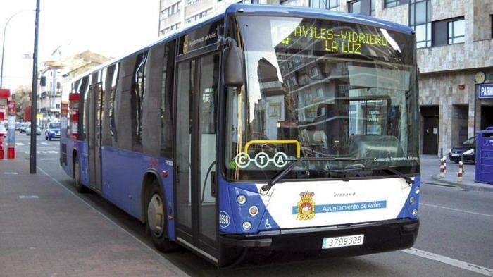 autobús urbano en Avilés