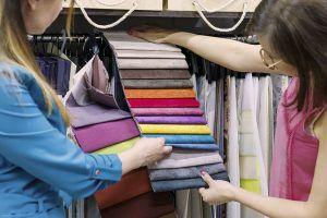 Comercio local, tienda de cortinas
