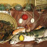 Variedad de pescados y mariscos asturianos