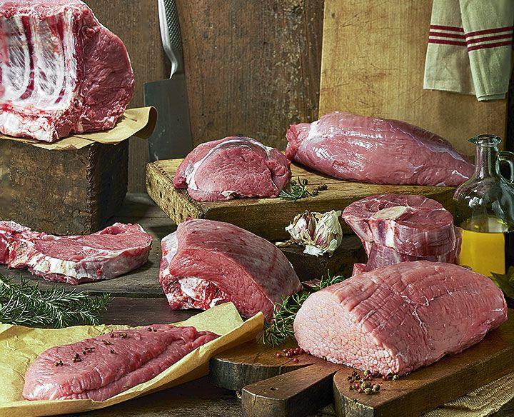 piezas de carne de ternera asturiana