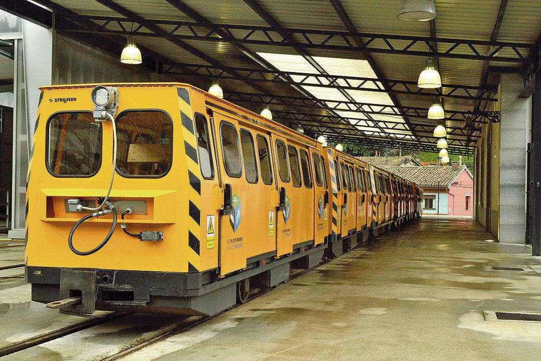 Tren del Ecomuseo Minero Valle de Samuño. Langreo